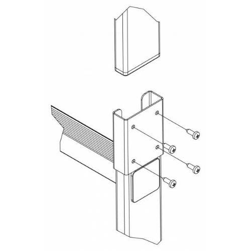Glide-låsebeslag til dobbeltstige
