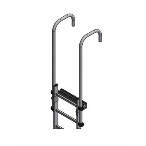 Udstigningshåndtag til montering på væg - oppe og nede